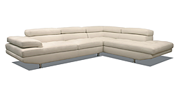 Leisure Lounges Relax 3 Seater Return Chaise Leather Lounge